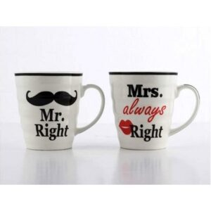 78-8232 Hrnky Mr right a Mrs always right 250ml 2ks